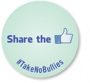 "The old adage, ""sharing is caring"" applies to the digital world as well (#TakeNoBullies sticker via MySecuritySign)"