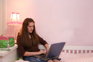 Teenager-with-Laptop